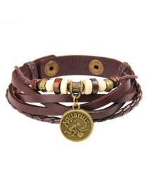 Fashion Brown Aquarius Shape Decorated Bracelet