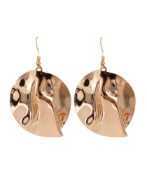 Fashion Gold Color Pure Color Design Round Shape Earrings