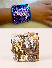 Fashion Gold Color+silver Color Color Mathcing Decorated Magic Wrists