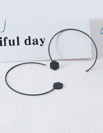 Elegant Black Pure Color Decorated Simple Earrings