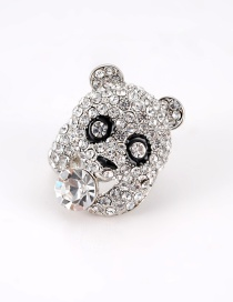 Fashion Silver Color Panda Shape Design Ring