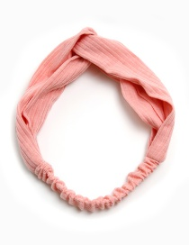 Lovely Pink Pure Color Decorated Children's Hair Band
