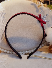 Lovely Claret Red Crown&bowknot Decorated Hair Hoop