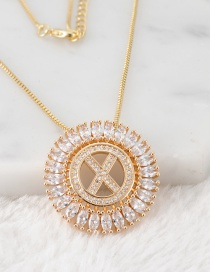 Fashion Gold Color X Letter Shape Decorated Necklace
