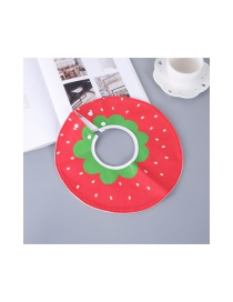 Fashion Red Strawberry Pattern Decorated Children's Bib