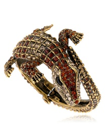 Fashion Gold Color Crocodile Shape Design Opening Bracelet