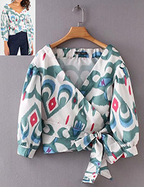 Fashion White Color Matching Decorated Shirt
