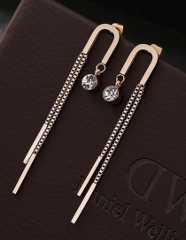 Fashion Rose Gold Pure Color Decorated Earrings