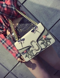 Fashion Gray Butterfly Shape Decorated Shoulder Bag