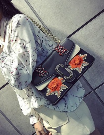 Fashion Black Butterfly Shape Decorated Shoulder Bag