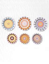 Fashion Multi-color Sunflower Pattern Decorated Ornament Tray