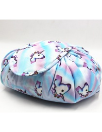 Fashion Light Blue Unicorn Pattern Decorated Storage Bag