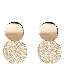 Fashion Gold Color Round Shape Decorted Earrings