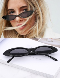 Fashion Black Oval Shape Design Small Frame Glasses