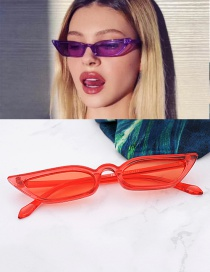 Fashion Red Pure Color Design Simple Glasses