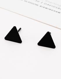 Fashion Black Triangle Shape Design Pure Color Earrings
