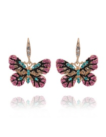 Elegant Multi-color Butterfly Shape Design Earrings