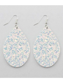 Fashion White Water Drop Shape Design Earrings