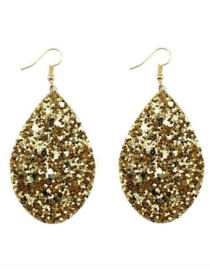 Fashion Gold Color Water Drop Shape Design Earrings