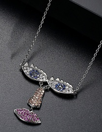 Fashion Gun Black Eyes Shape Pendant Decorated Necklace