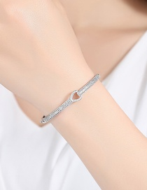 Fashion Silver Color Heart Shape Design Pure Color Bracelet