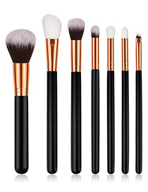 Fashion Black Flame Shape Design Cosmetic Brush(7pcs)