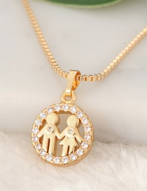 Fashion Gold Color Girls Pendant Decorated Necklace