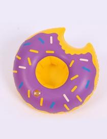 Trendy Purple Doughnut Shape Design Cup Holder