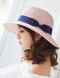 Fashion Light Pink Bowknot Shape Decorated Hat