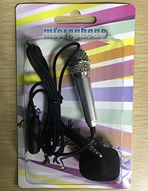 Fashion Silver Color Pure Color Decorated Microphone(apply To Andrews&iphone)