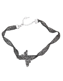 Fashion Black Butterfly Shape Decorated Necklace