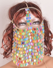 Sexy Multi-color Paillette Decorated Mask