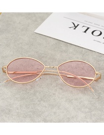 Fashion Pink Round Shape Design Glasses