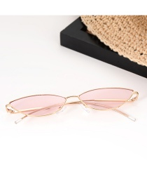 Fashion Pink Pure Color Decorated Glasses