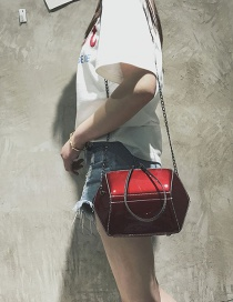 Fashion Red Geometric Shape Decorated Bag