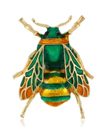 Fashion Green Bee Shape Design Brooch