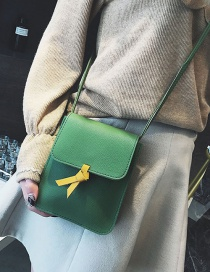 Fashion Green+yellow Color-matching Decorated Bag