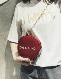 Fashion Claret Red Round Shape Decorated Bag