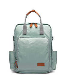 Fashion Light Green Pure Color Decorated Backpack