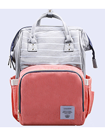 Fashion Orange Stripe Pattern Decorated Backpack