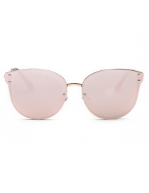 Fashion Pink Pure Color Decorated Sun Glasses
