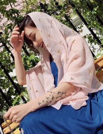 Fashion Light Pink Antler Pattern Decorated Dual-use Scarf