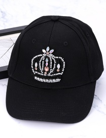 Fashion Black Crown Shape Decorated Baseball Cap