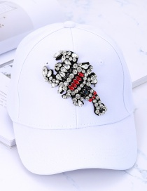 Fashion White Scorpions Shape Decorated Baseball Cap