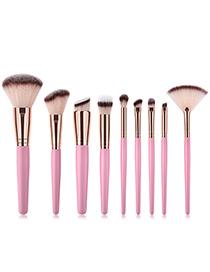 Fashion Pink Round Shape Decorated Makeup Brush