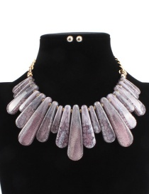 Fashion Pink Irregular Shape Design Pure Color Necklace (not Set)