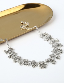 Fashion Silver Color Balls Decorated Pure Color Anklet(1pc)