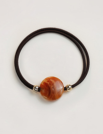 Fashion Orange Round Shape Decorated Simple Hair Band