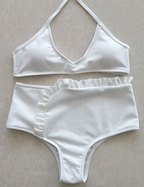 Sexy White Hollow Out Design Off-the-shoulder Swimwear