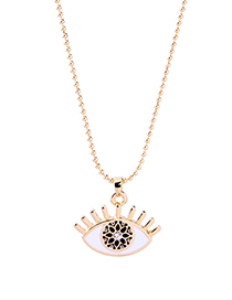 Fashion Gold Color Eye Shape Decorated Necklace
